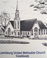 Custom Pen & Ink Church Portrait created for Lewisburg United Methodist Church Cookbook cover.